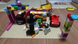 レゴで作ったペンギンの親子