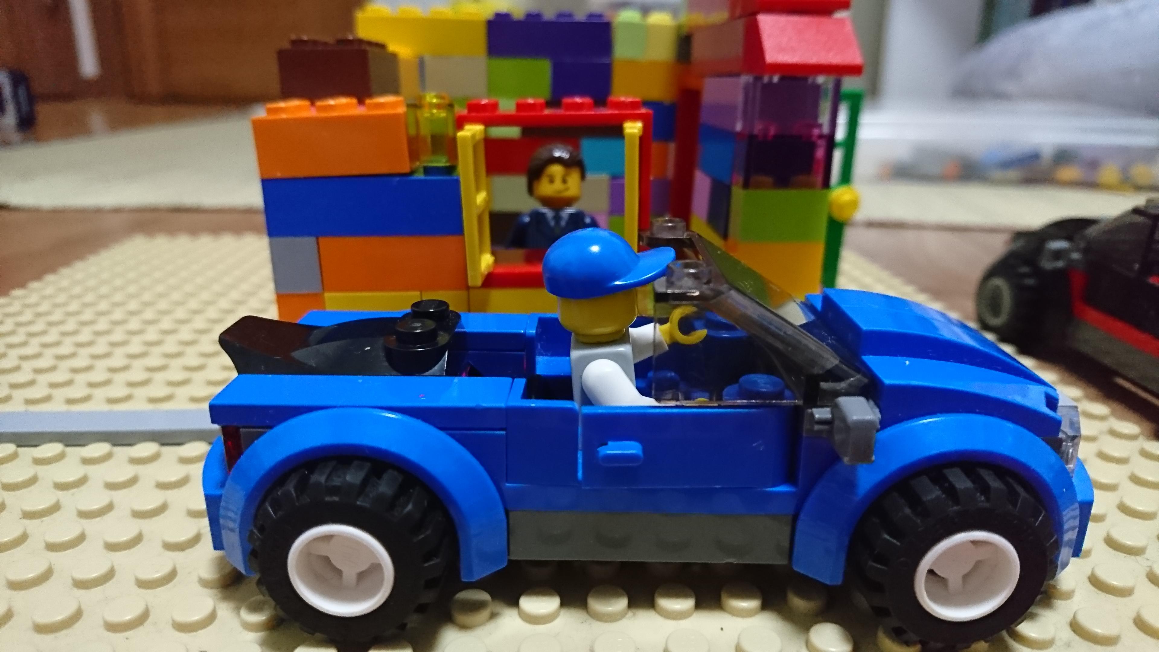 レゴで作ったドライブスルー