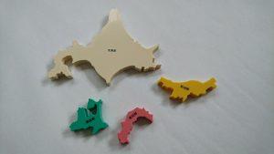 日本地図パズルのピース