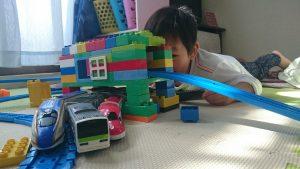 レゴで作った駅